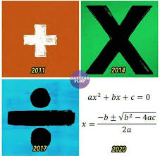 Maths Memes - ed sheeran is trying to help all of us with maths e d