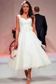 ivy lace calf tea length short lace wedding dress cap sleeve