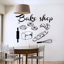 compare prices on cake wall decal online shopping buy low price bakery shop vinyl wall decal bakery kitchen cafe shop sign bread cake mural art wall sticker