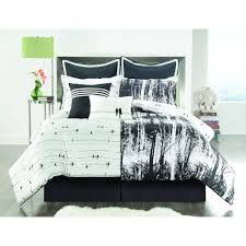 Red White Comforter Sets Vcny Home Woodland 8 Piece Black And White Nature Inspired