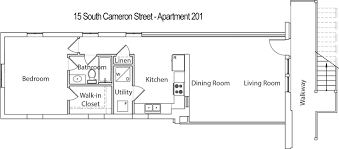 Parking Building Floor Plan 15 South Cameron Street 2nd Floor Apartment 201 Rented