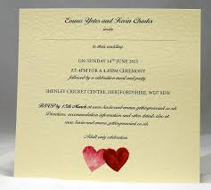 wedding invitations personalised double sided day or evening