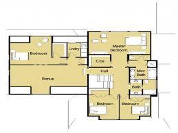 modern house floor plan free modern house plans bungalow modern house plan