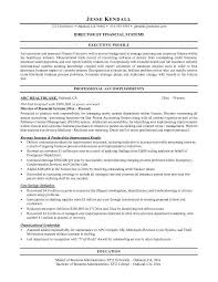 resume objective finance free resume