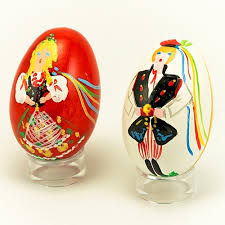painted wooden easter eggs center krakow pair wooden easter eggs