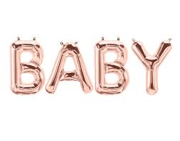 baby rose gold letter balloon banner baby shower decor baby
