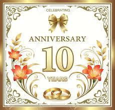 tenth wedding anniversary tenth wedding anniversary cards handmade 10th wedding anniversary