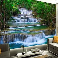 3d waterfalls wallpaper photo wall mural for bedroom wall paper
