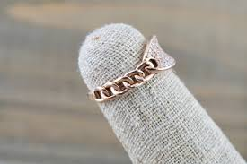 rings with brilliant images 14 karat rose gold dog tag oval pave diamond chain link ring jpg