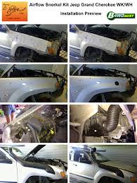 jeep snorkel install airflow snorkel kit jeep grand cherokee wh wk ebay