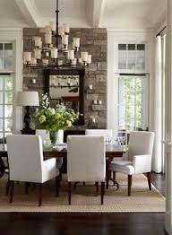 Dark Red Dining Room by Red Dining Room Plus I Am Loving The Stone Mixed With All The