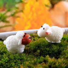 Sheep Home Decor Aliexpress Com Buy 5 Pcs Mini Sheep Micro House Fairy Garden