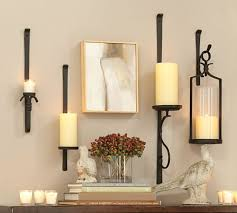 pottery barn lighting sconces artisanal wall mount candleholder pottery barn