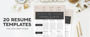 fashion resume templates 20 resume templates that look great in 2015 creative market