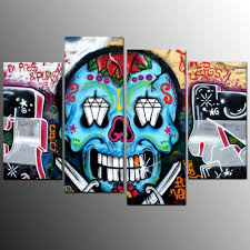 online buy wholesale art canvas print skull from china art canvas