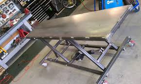 motorcycle lift table plans mc lift table project custom fighters custom streetfighter