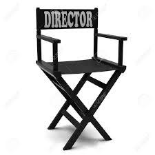 chaise de realisateur l u0027industrie flim administration chaise sur un fond blanc banque d