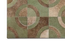 Famosos Tapete Juno Hortelã Couro Verde Marrom Geométrico Sala Quarto #CQ41