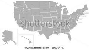 map usa with names united states map vector free vector stock