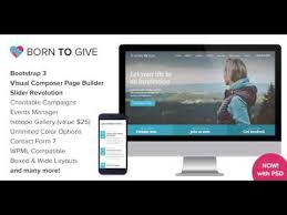 born to give charity crowdfunding responsive wordpress theme
