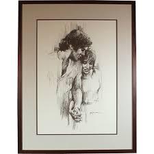 leo jansen leo jansen holding chalk pastel print framed couples