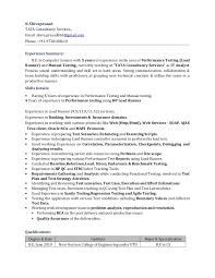1 Year Experience Resume Format For Manual Testing Shivaprasad Resume Performance Testing