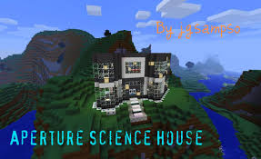 themed house aperture science themed house minecraft project
