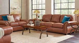 light brown living room balencia light brown leather 5 pc living room leather living rooms