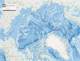 National Geographic Topo Maps Large Detailed Arctic Ocean Floor Map From The National