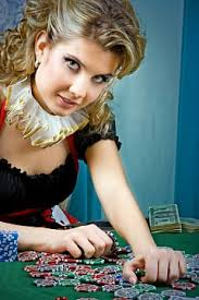 A poker blonde Russian girl won a lot of money