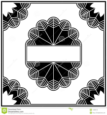 art deco design elements collection border royalty free stock