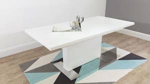 High Gloss Extending Dining Table Modern Rectangular White Gloss Extending Dining Table Uk Intended