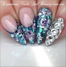 collection swarovski crystal nail art pictures cerene eye candy