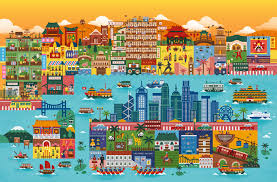 Map Of Malaysia Illustrated Map Of Hong Kong For Malaysia Airlines On Behance