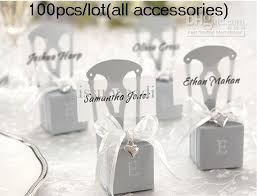 silver party favors wedding cake boxes miniature silver chair wedding favor box all