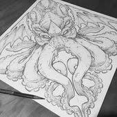 cthulhu tattoo concept on behance u2026 pinteres u2026