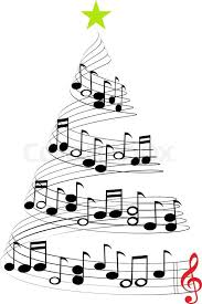 a tree of musical notes symbolizing carols and