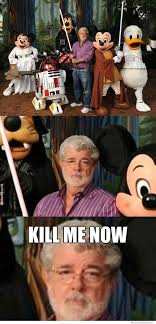 Star Wars Disney Meme - image depressed george lucas disney starwars meme jpg