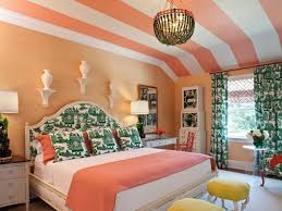 floral peach bedroom and light orange wall for home and advice for
