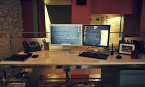 Desk For Dual Monitor Setup Phil Coffman U0027s Sweet Mac Setup U2013 Shawn Blanc