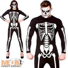womens skeleton jumpsuit skeleton bodysuit adults fancy dress jumpsuit mens