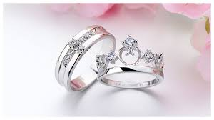 promise engagement and wedding ring set sterling silver open and crown shaped promise ring band with
