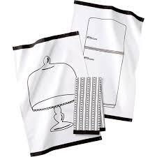 martha stewart kitchen collection martha stewart collection 3 pc pencil sketch kitchen towel set