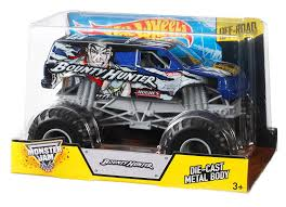how long does monster truck jam last amazon com wheels monster jam bounty hunter die cast vehicle