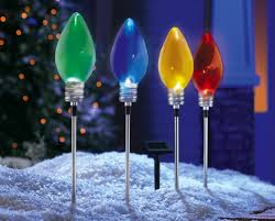 Outdoor Christmas Yard Decorations by Christmas Light Stake Christmas Lights Decoration