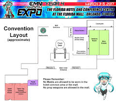 The Florida Mall Map by Omni Fandom Expo Convention Layout Map