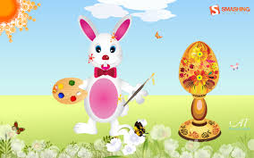 35 joyful easter wallpaper u2014 funny bunnies and painted eggs