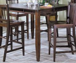 espresso finish modern pub dining table w optional chairs