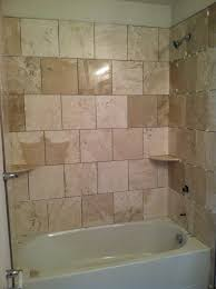 bathroom shower wall tile ideas shower tub tile ideas brown pattern valance in corner home depot