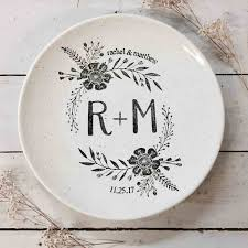 personalized wedding plate wedding monogram plate personalized wedding gifts